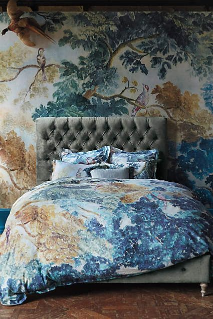 17 best images about trompe l 39 oeil on pinterest faux for Anthropologie wallpaper mural