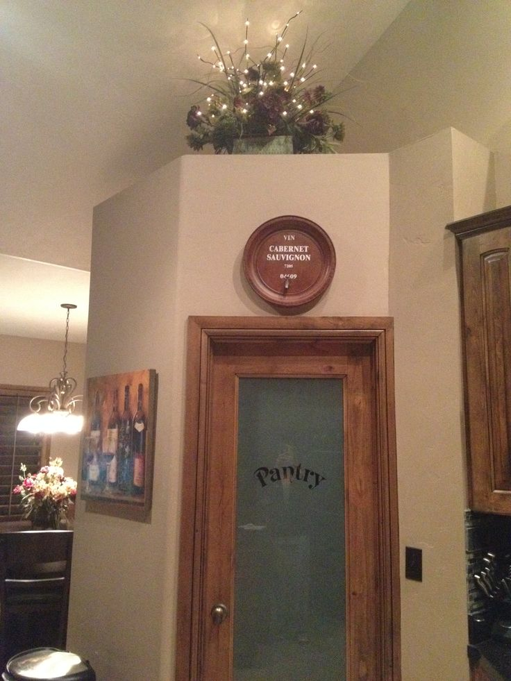 Above Cabinet/pantry Door Ideas Decor Purchased At Hobby