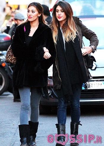 Cecilia e Belen Rodriguez passeggiano insieme a braccetto a Milano: le foto - Foto e Gossip by Gossip News