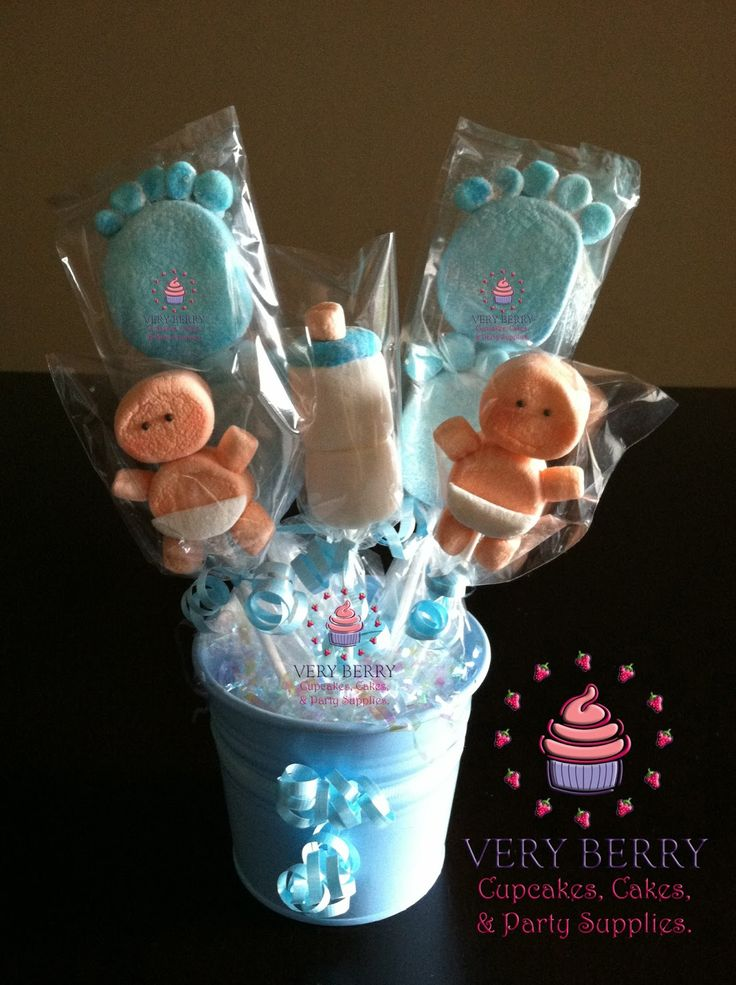Veryberry Cupcakes: BOY BABY SHOWER MARSHMALLOW CENTERPIECES