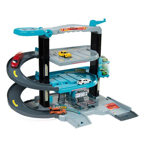 Le garage Majorette City Flex est un parking pour les voitures qui permettra aux enfants de jouer des heures sur les différents niveaux et avec l'ascenseur.