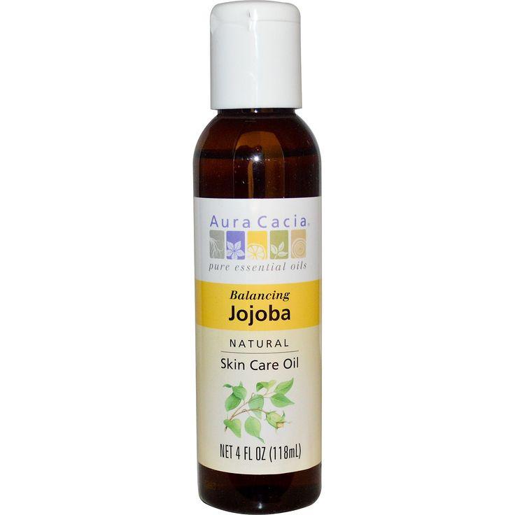 Aura Cacia, Натуральное масло жожобы по уходу за кожей, балансирующее, 4 жидких унции (118 мл)