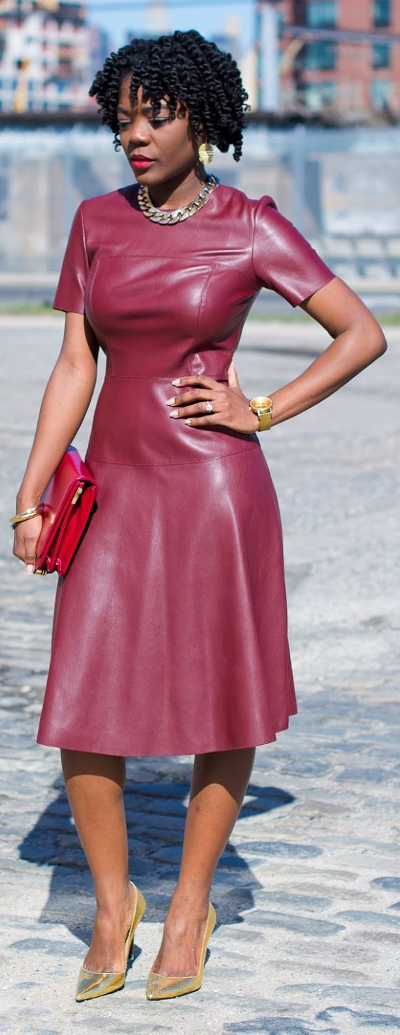 Red Leather Dress; love!!