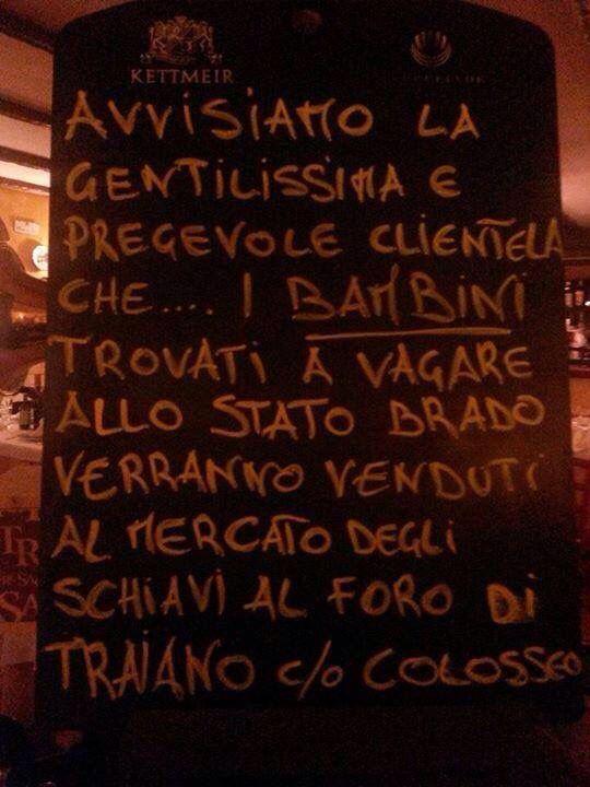 In un ristorante a Roma...