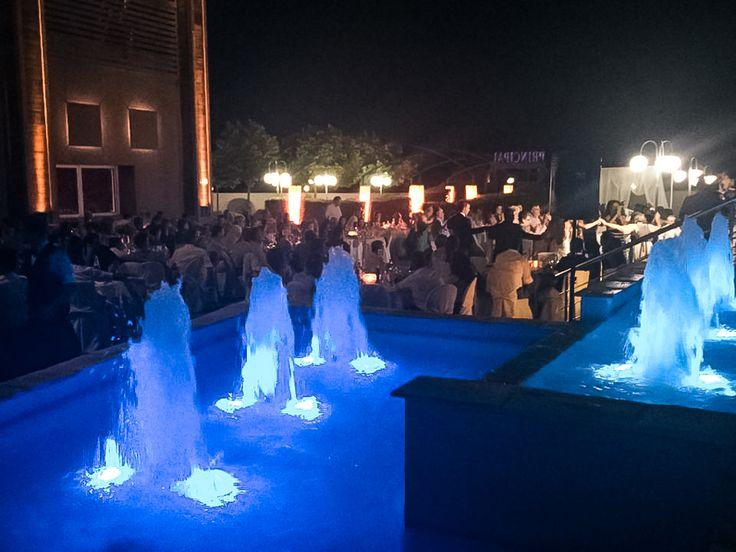 Outdoor wedding night party