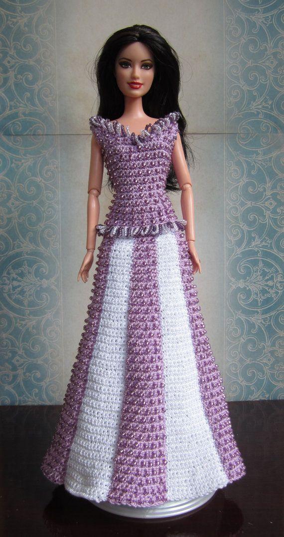 Easy Crochet Doll Dress Pattern : 17 Best ideas about Barbie Crochet Gown on Pinterest ...