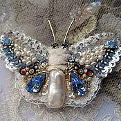"Handmade Jewelry.  Fair Masters - handmade brooch butterfly ""BB13-002.""  Handmade."