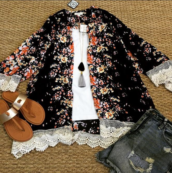 Love this flower kimono! From Pomp and circumstance