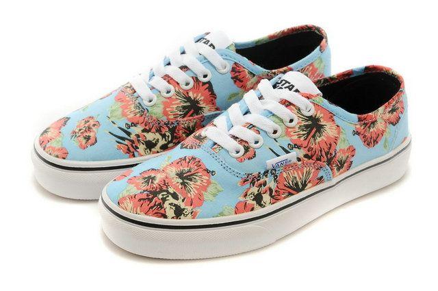 5e92853ee3 Vans Authentic Floral Liberty Art Fabrics Sky Blue Era Flowers Print Skate  Sneakers  S503406  -  39.99   Vans Shop