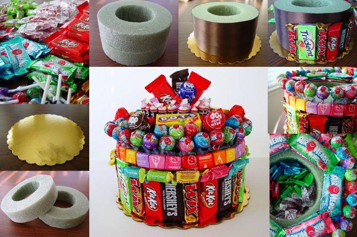 DIY Candy Bar Cake