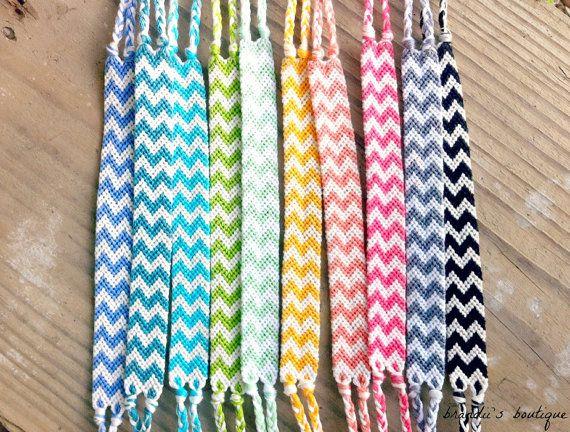 Rainbow Double Chevron Friendship Bracelets by BrandiisBoutique                                         I love these!