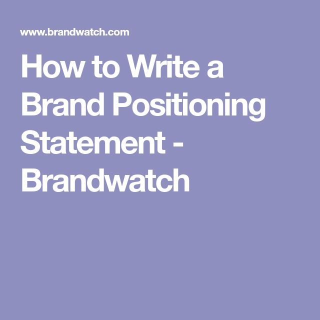 The 25+ best Brand positioning statement ideas on Pinterest - business management agreement