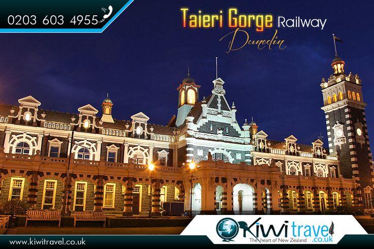 "Taieri Gorge Railway, Dunedin, #NZ:  Dunedin #Railway Station is designed by #George #Troup, is the #city's fourth #station. It earned its #architect the #nickname of ""#Gingerbread George"". |   Source: https://en.wikipedia.org/wiki/Dunedin_Railway_Station |   #TaieriGorgeRailway #GingerbreadGeorge #BuildingsandStructures #RailwayStationsinNewZealand #RailTransport #GeorgeTroup #kiwitravel #newzealandflights |   Exclusive offers on #DunedinFlights: http://www.kiwitravel.co.uk/flights/dunedin"