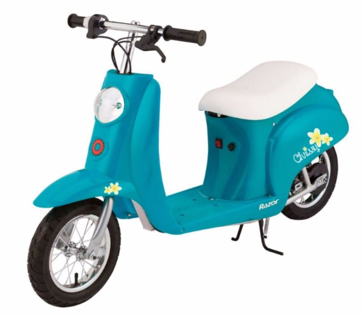 Electric Scooter For Kids Girls Teens With Seat Charger Battery Razor Turquoise #Razor