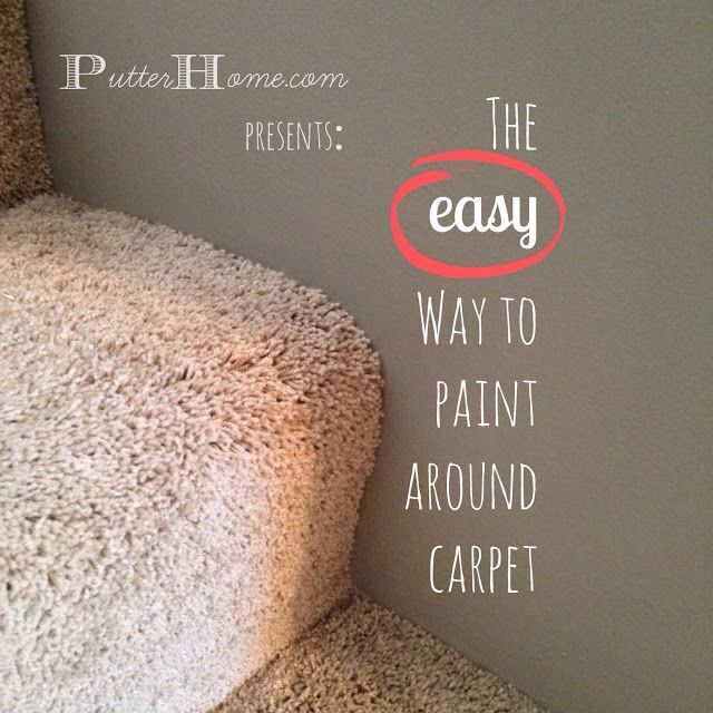 Putter Home | The EASY way to paint around carpet, a painting tip to make your job easier
