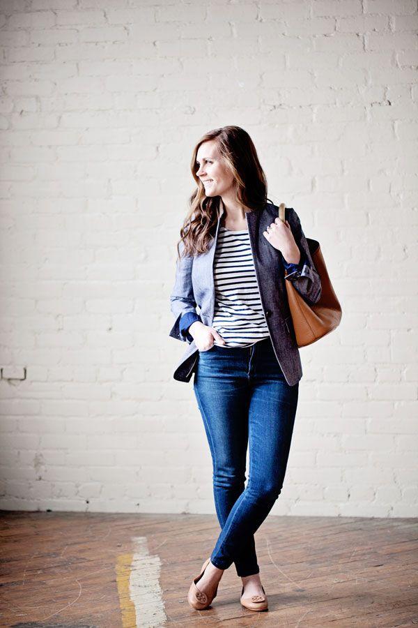my everyday style: a chambray blazer!