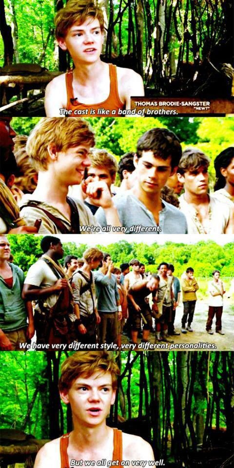 Thomas Brodie-Sangster on the cast