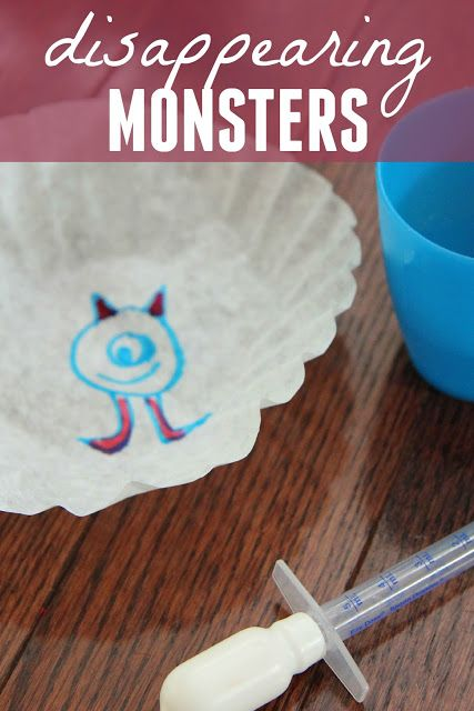 Toddler Approved!: Disappearing Monsters Activity