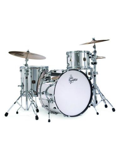 Gretsch Catalina Club Rock 4-Piece Drum Set Shell Pack - Mirror Chrome ** You can find out more details at the link of the image.