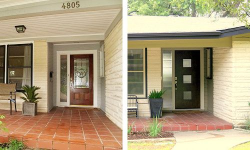 Crestview doors before and after pics of modern front for 1950s front door