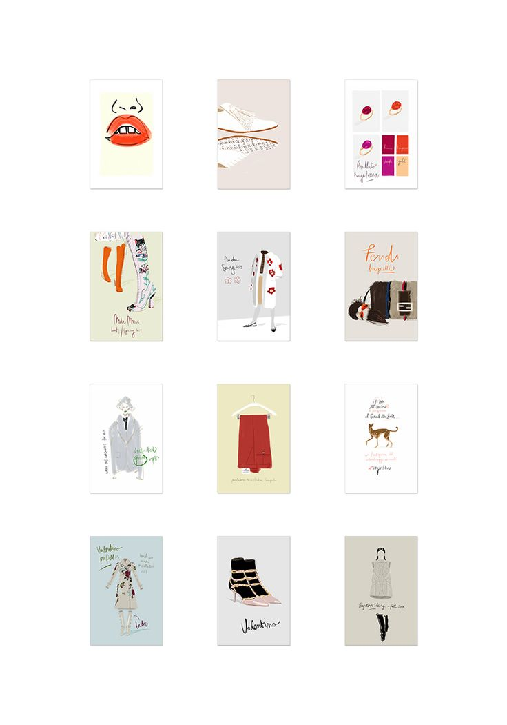 """Open Toe Illustration featured in """"The New Vocabulary of Italian Fashion"""" exhibition at Triennale Milano // www.opentoeillustration.com"""