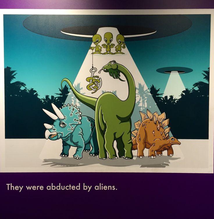 cartaz de humor sobre dinossauros