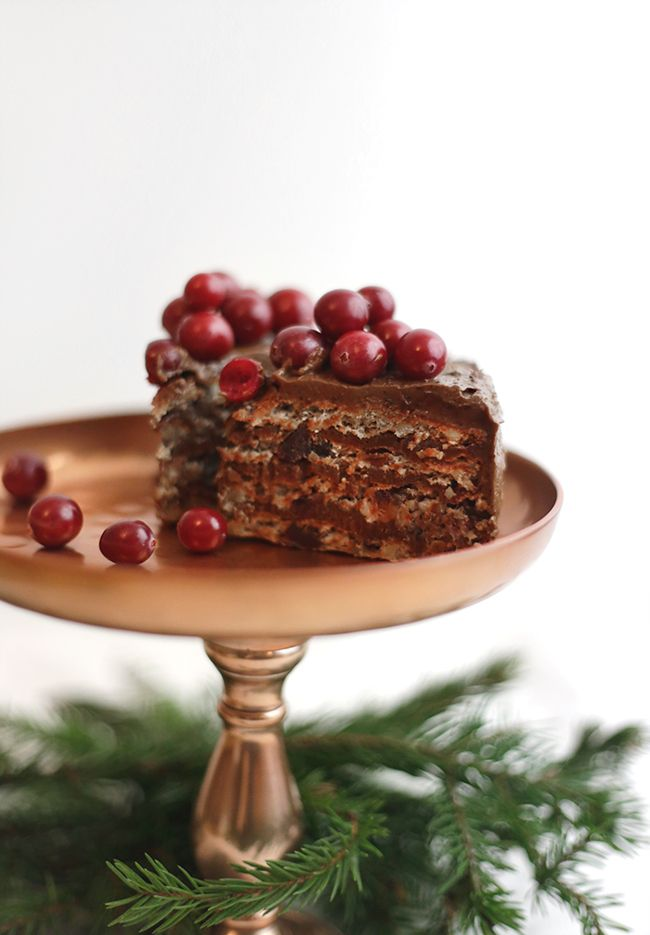 Rich Cake with Chocolate and Dates