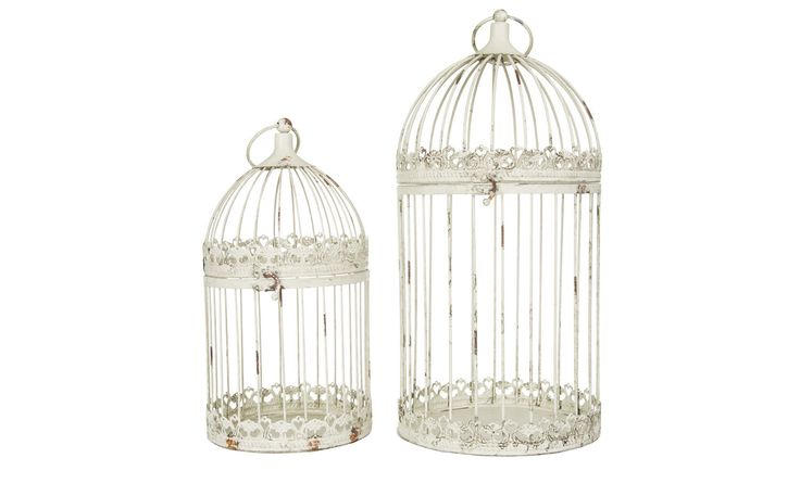 Round aviaries champagne color