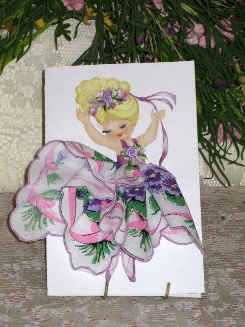 Little Lady Ballerina Keepsake Hanky Card by onceuponahanky, $8.00