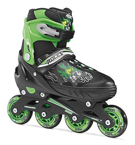 Roces Inline de patines en línea Compy 6.0, de Black Light Green, 38–41, 400808