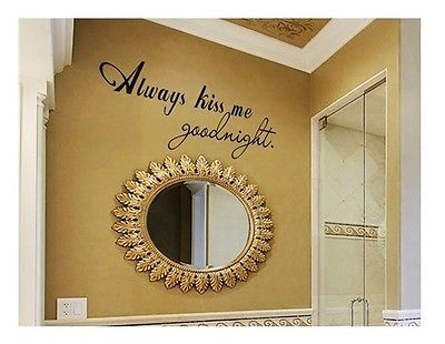 23 best Always Kiss Me Goodnight Wall Decals images on Pinterest ...