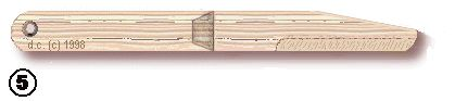 This site has instructions to make a wooden knife from 3 popsicles.  Bear Ach 19