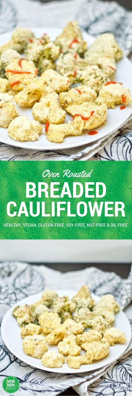 Oven Roasted Breaded Cauliflower | WIN-WIN FOOD #healthy #vegan #glutenfree #oilfree