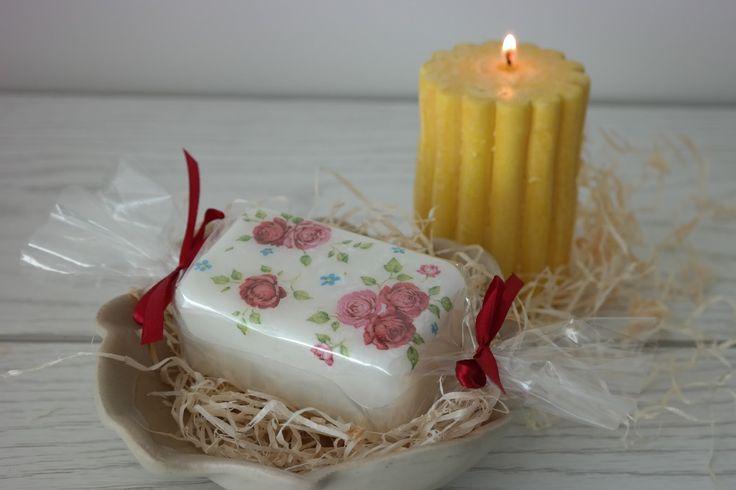 Sunflower - u mnie na wsi: Mydełko na prezent - DIY