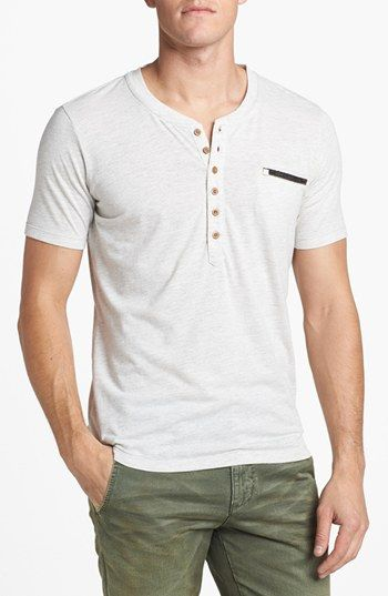 DIESEL® 'T-Erato' Heathered Pocket Henley available at #Nordstrom