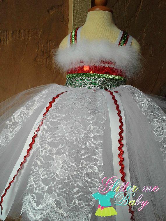 White Christmas tutu Dress Christmas tutu dress by GlitterMeBaby, $70.00 **Holiday Photos**