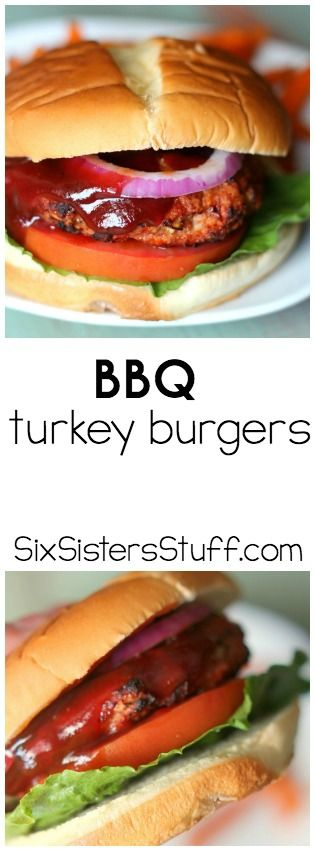 These BBQ Turkey Burgers from SixSistersStuff.com are AMAZING!