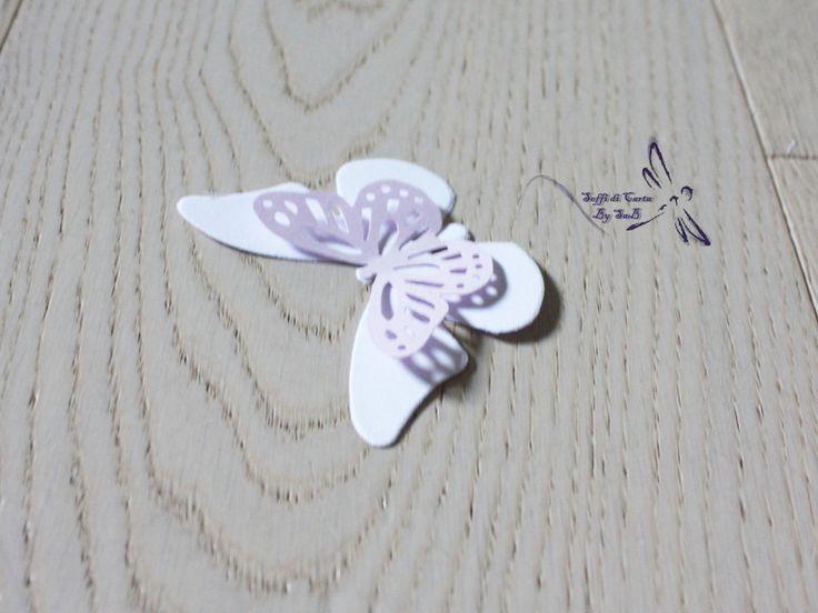 Decorazioni - 5 Farfalle Doppie in cartoncino - un prodotto unico di Sahbry82 su DaWanda