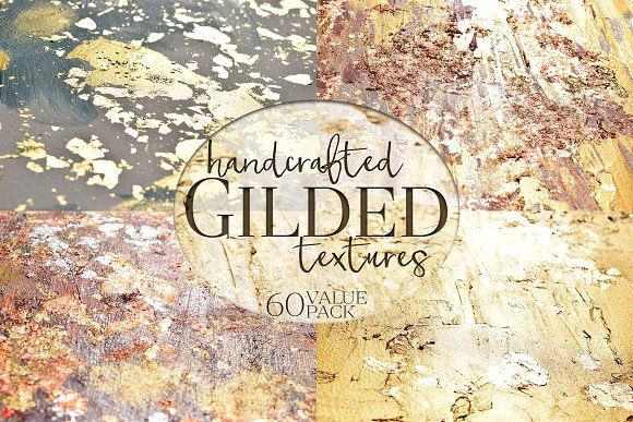 Gilded Texture Collection by Alaina Jensen on @creativemarket