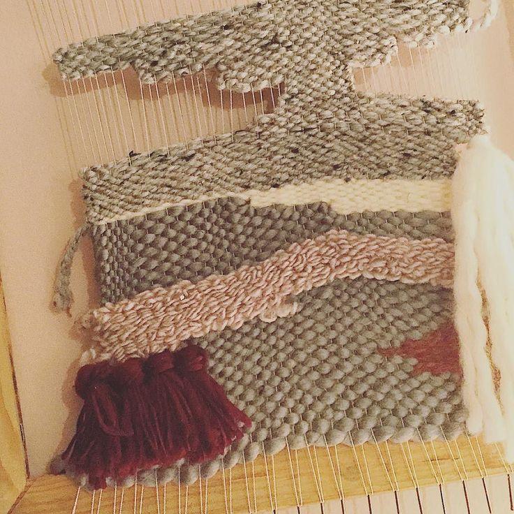 Progress #weaving #hunterandthistledecor -K