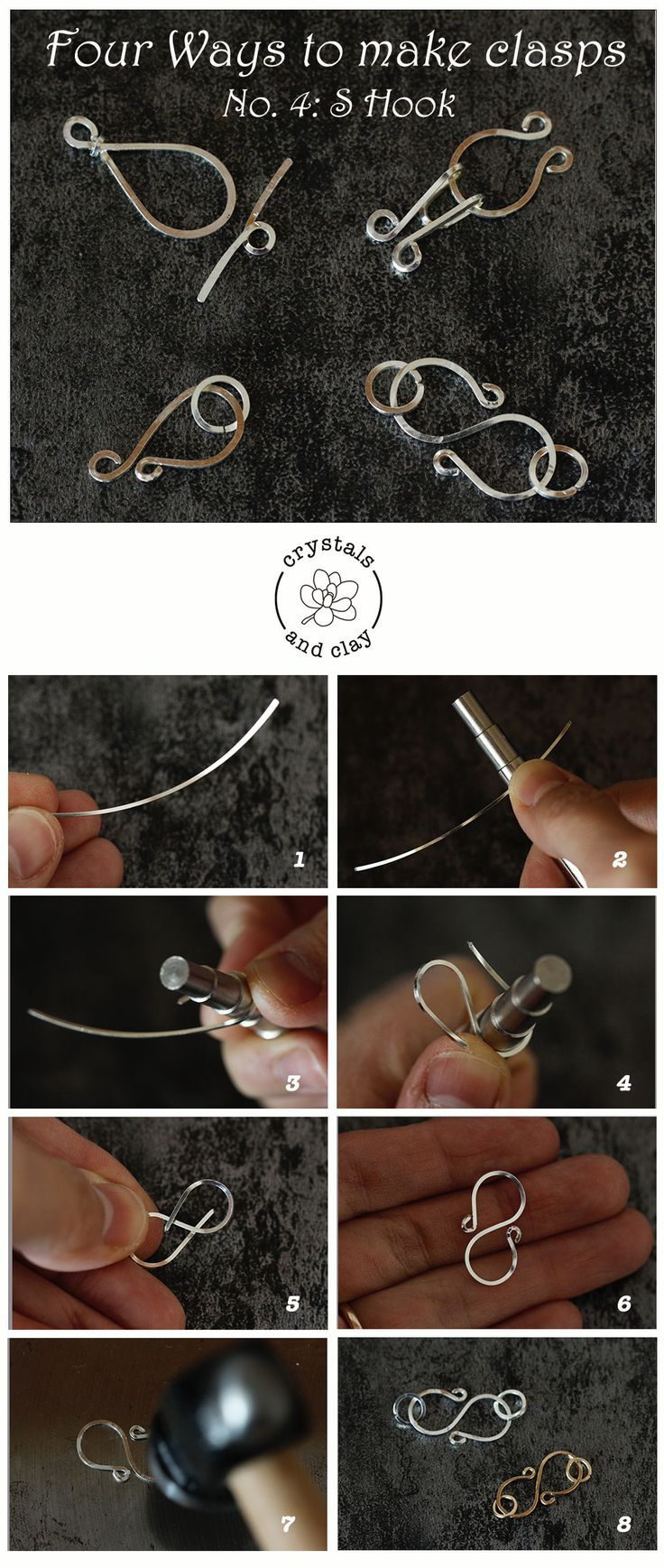 Basics of Jewelery Making 5 – Four ways to make wire staples