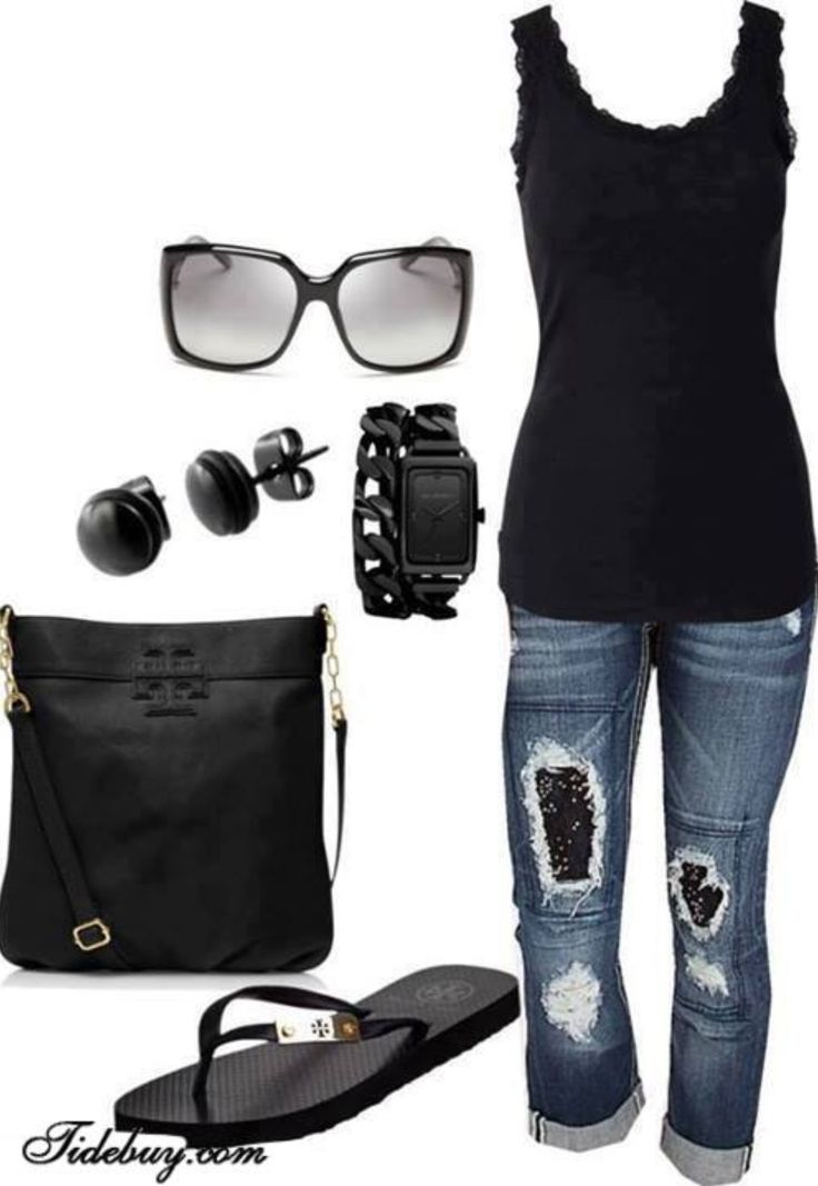 I got about 5 similar outfits such as this . Just switch up the jeans , with another colored man-beater and cute sandals with a different shade of big sunglasses. Dope for any season. #SoCalComfyClothes (my purse has so many colors-it matches everything right now