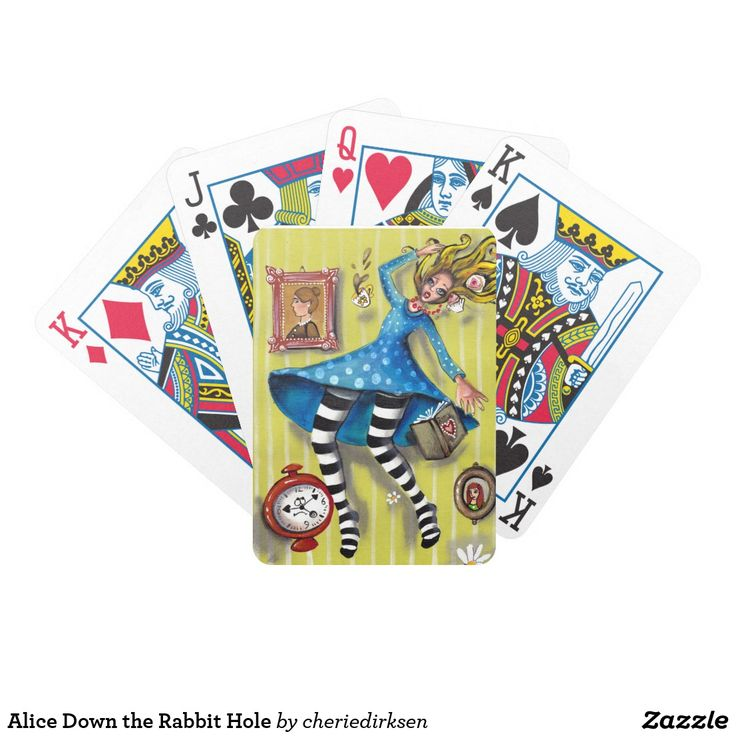 50% off this #BlackFriday2017 --- Alice Down the Rabbit Hole Bicycle Playing Cards