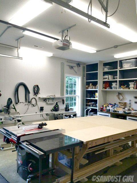Sawdust Girl - new_LED_shop_lights for garage shop setup