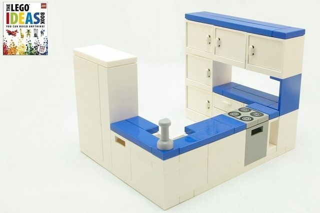 Lego kitchen from lego ideas