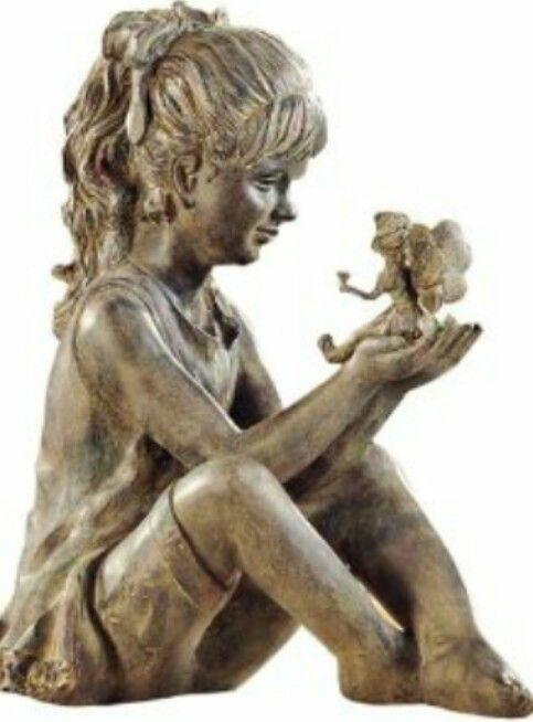 Good Fairy Statues, Garden Statues, Outdoor Statues, Garden Sculptures, Garden  Art, Garden Design, Gift Crafts, Sitting Girl, Fairy Gardens