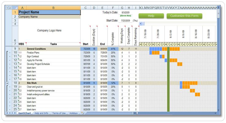 Gantt Chart Excel Template Free Download  Software Instructables