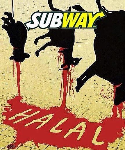 COMPLAIN TO SUBWAY! Popular sandwich franchise Subway have now removed ham and bacon from their menus in nearly 200 stores – to appease Muslims! 185 branches now sell only halal meat! Send a complaint right NOW if you think this is outrageous: http://www.britainfirst.org/boycott-subway/