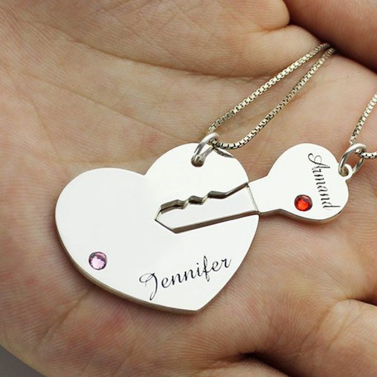 "Item specifics:     	 		 			Style: 			Name Necklace/Love Necklace 			Pendant Size: 			3x2.3cm/(1.18""x0.9"") 		 		 			Hook: 			Single Hook 			Chain type: 			Box Chian 		 		 			Material: 			925 Silver 		 	      	 		 			Style: 			Name Necklace/Love Necklace 		 		 			Pendant Size: 			3x2.3cm/(1.18""x0.9"") 		 		 			Hook: 			Single Hook 		 		 			Chain type: 			Box Chian 		 		 			Material: 			925 Silver 		 	     Gift For Him & Her - Key to My Heart Name Pe..."