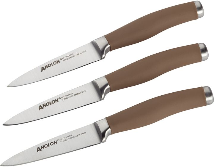 Anolon Japanese Stainless Steel Paring Knives (Set of 3)